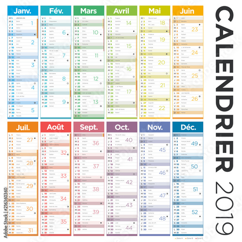 Calendrier Free 2019.Calendrier Francais 2019 Stock Image And Royalty Free