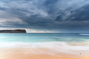 Smooth and Stormy Seascape