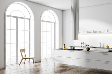 White loft kitchen corner