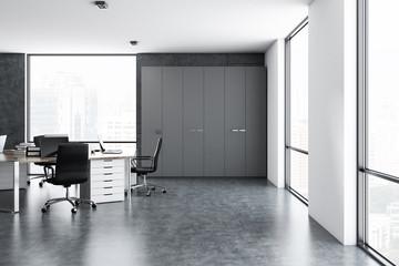 White modern company office interior