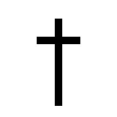 Christian Cross icon Latin Cross icon on background vector
