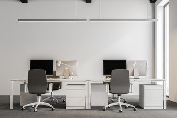 White industrial style company office