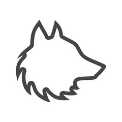 Black wolf howl emblem or logo