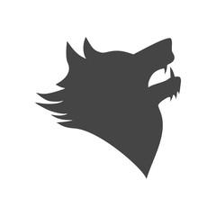 Black wolf howl emblem or logo