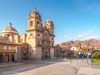 The Plaza de Armas in Cusco, the landmark of Peru.