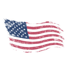 American flag in grunge style .