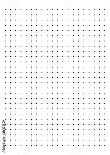 dot grid paper graph paper 1 cm on a4 on white background vector