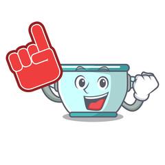 Foam finger steel pot mascot cartoon