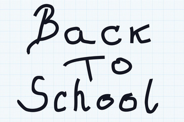 Text back to school. vector illustration