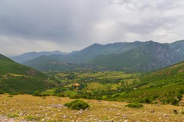 Scenic landscape view in Albanian mountain, Lure
