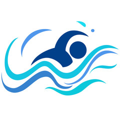 the swimming logo