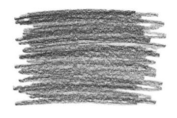 Grunge graphite pencil texture, isolated on white background