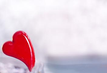Heart on defocused background