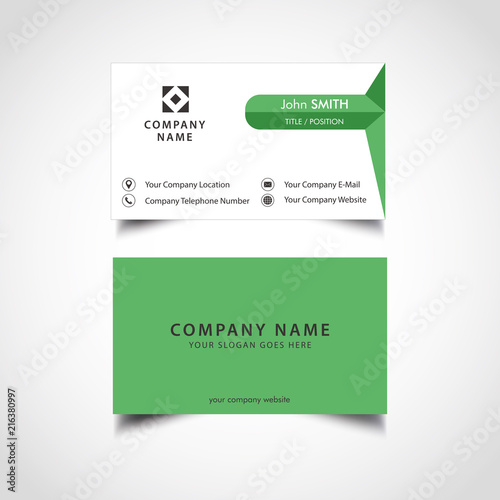 Simple green and dark color business card vector illustration eps simple green and dark color business card vector illustration eps file reheart Image collections