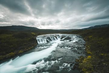 Iceland Landscape Waterfall Bruarfoss