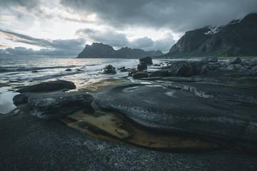 Norway, Lofoten, Uttakleiv beach
