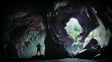 Cathedral Cavern, Little Lansdale, Lake District National Park Wall mural