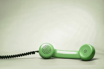Green Telephone Handset
