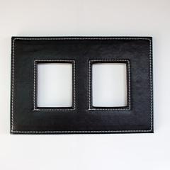 black frame for photo on white background