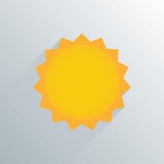 simple sun weather icon symbol vector illustration