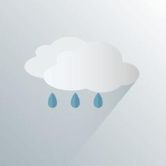 simple rain weather icon symbol vector illustration