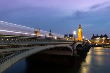 Poster London London, United Kingdom, Parliament Bridge at Dusk