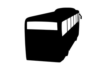 silhouette of bus vector