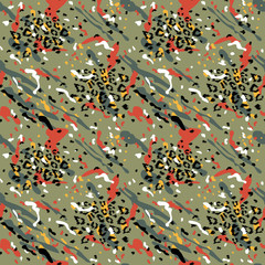 Fashionable Abstract Seamless Pattern. Stylized Spotted Leopard Skin Background for Fashion, Print, Wallpaper, Fabric. Vector illustration