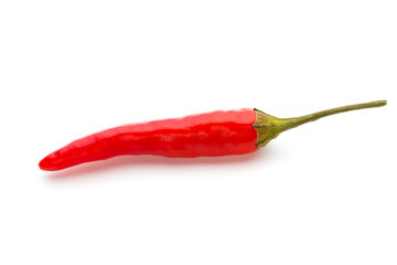 Chili pepper isolated on a white background.