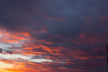 Clouds at sunset, background