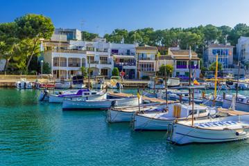 Beautiful Portopetro sea port on Mallorca island - Spain
