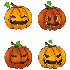 Funny Happy Halloween Jack-o-Lantern pumpkin lantern Collection Icons