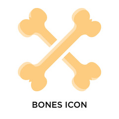 Bones icon vector sign and symbol isolated on white background, Bones logo concept