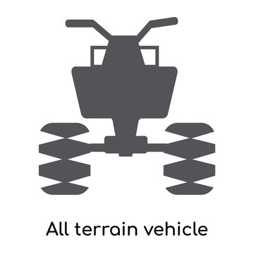 all terrain vehicle icon isolated on white background. Modern and editable all terrain vehicle icon. Simple icons vector illustration.