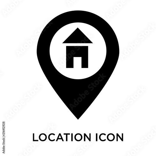 location icons isolated on white background  Modern and