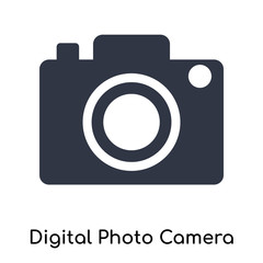 Digital Photo Camera icon vector sign and symbol isolated on white background, Digital Photo Camera logo concept