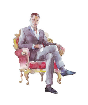 businessman sitting in a chair