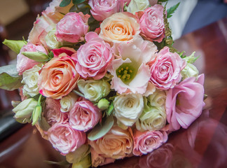 Very beautiful flowers. The flowers of the bride.