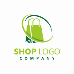 Shop Logo Vector Design, Business Logo Template