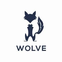 Wolfe Logo Vector Design Concept Creative