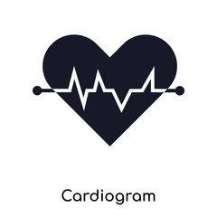 Cardiogram icon vector sign and symbol isolated on white background, Cardiogram logo concept