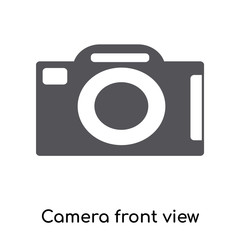Camera front view icon vector sign and symbol isolated on white background, Camera front view logo concept