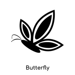 butterfly icon isolated on white background. Modern and editable butterfly icon. Simple icons vector illustration.