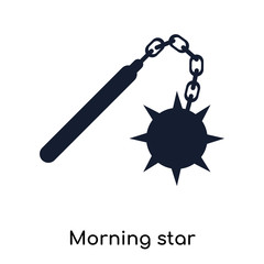 Morning star icon vector sign and symbol isolated on white background, Morning star logo concept