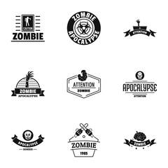 Indulge logo set. Simple set of 9 indulge vector logo for web isolated on white background