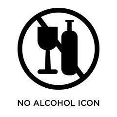 no alcohol icon on white background. Modern icons vector illustration. Trendy no alcohol icons