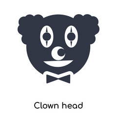 clown head icon isolated on white background. Modern and editable clown head icon. Simple icons vector illustration.
