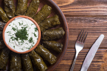 Dolma from grape of vines