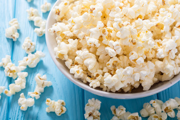 Popcorn snack in bowl