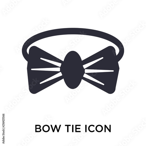 Bow Tie Icon Vector Sign And Symbol Isolated On White Background